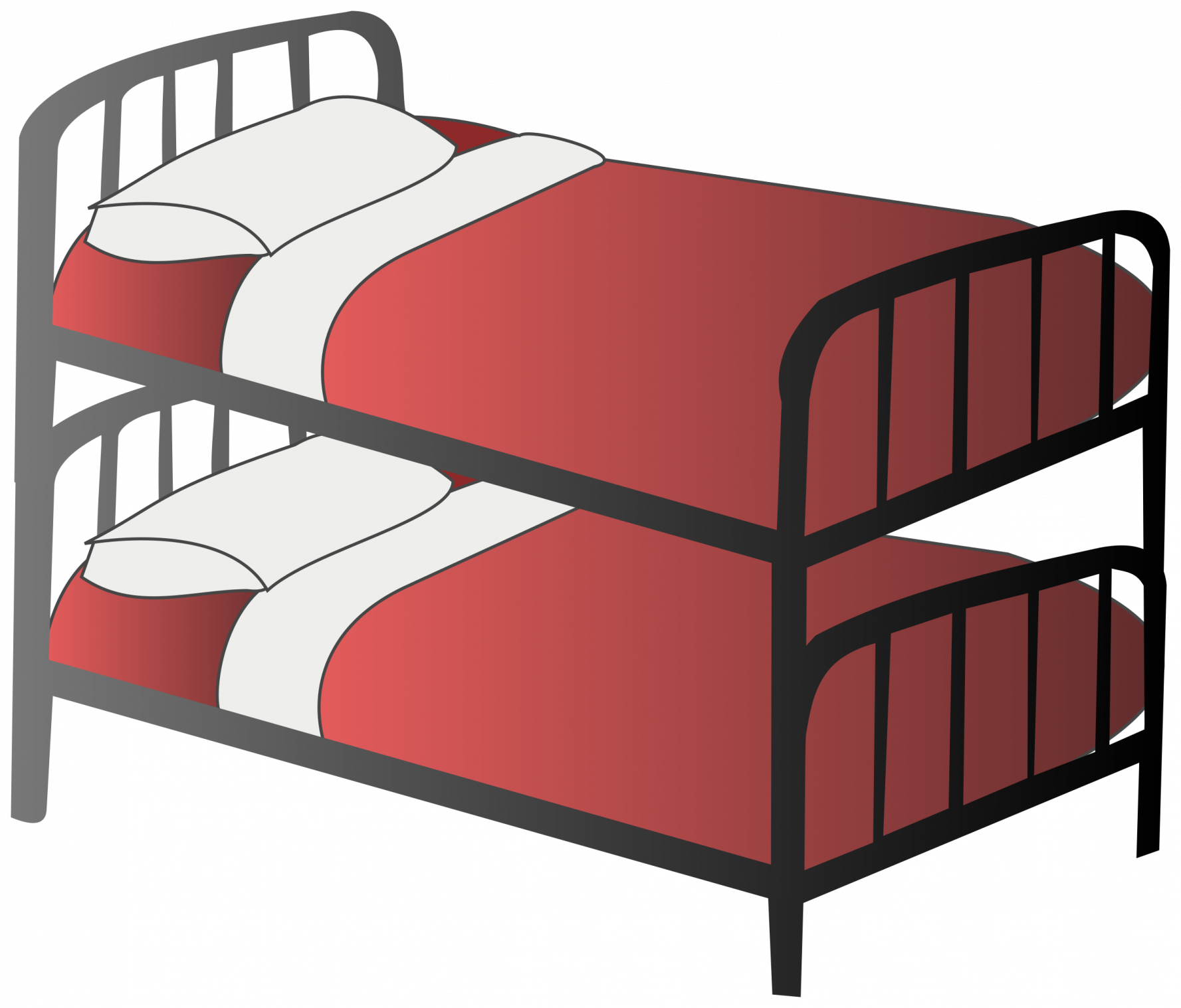 cartoon bunk beds. Furniture clipart small bed