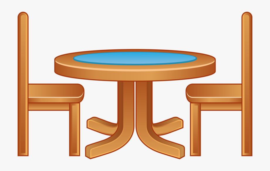 Furniture clipart table chair. Cartoon wooden tables and