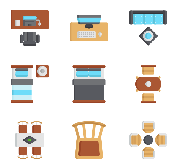 Furniture clipart top view.  icon packs vector
