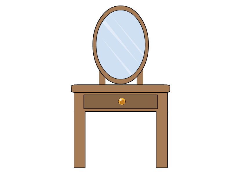 Furniture clipart vanity table. Dressing prop by noemi