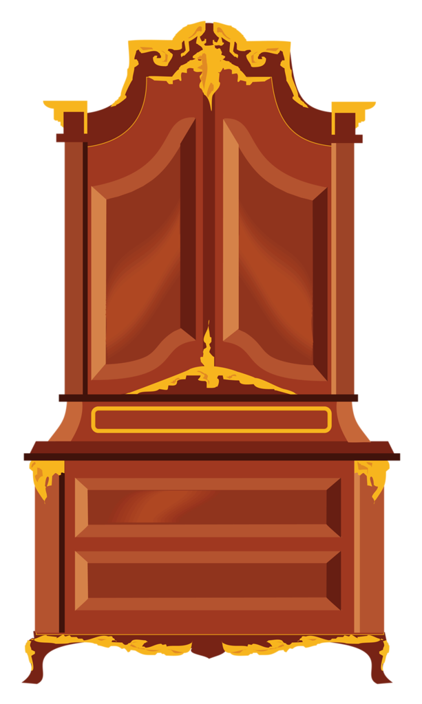 Furniture clipart vector. Armoire png clip art
