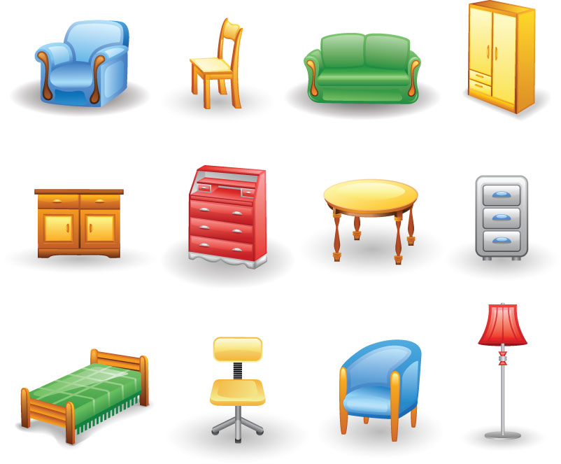 Templates graphic freebies eps. Furniture clipart vector