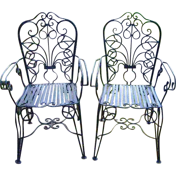 Ornate wrought iron french. Furniture clipart victorian furniture