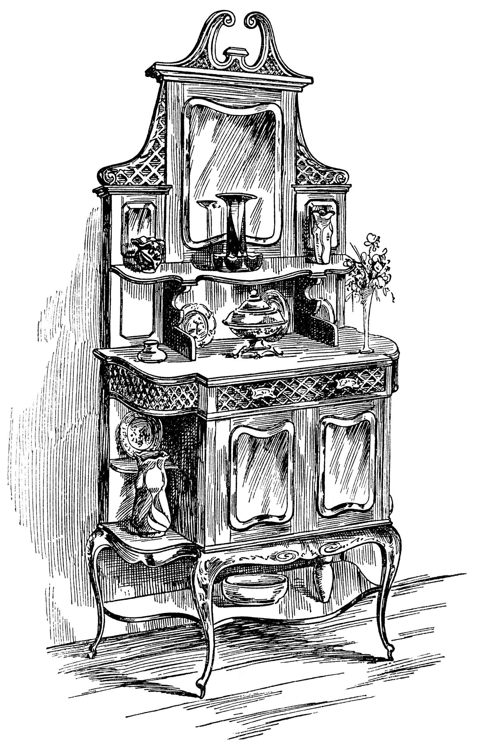 Pin by chris du. Furniture clipart victorian furniture