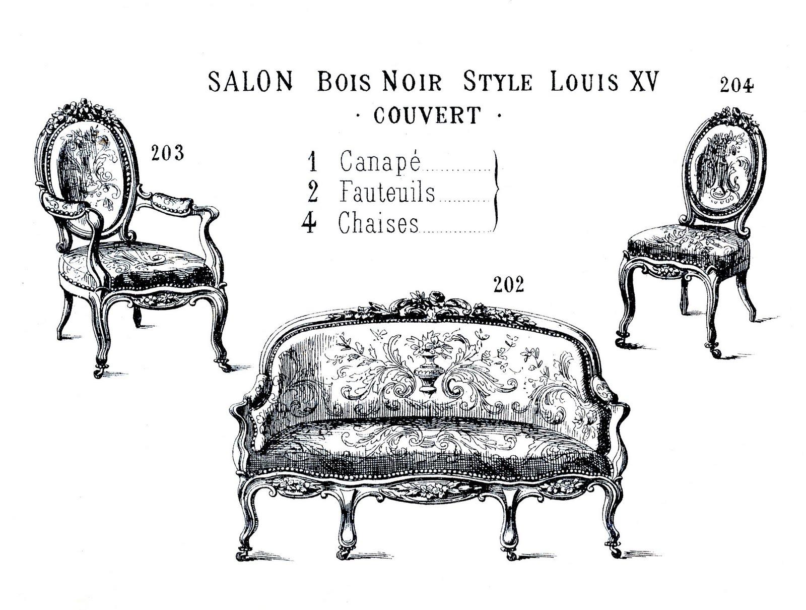 Clip art french paris. Furniture clipart victorian furniture