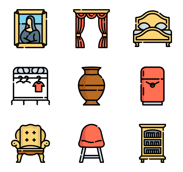 Furniture clipart vintage furniture.  icon packs vector