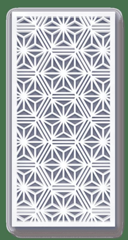 Laser cut geometric osaka. Furniture clipart window screen