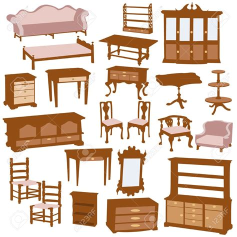 Furniture clipart wood furniture. Wooden chair clip art