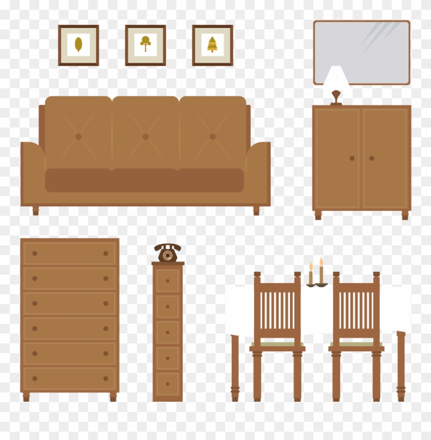 Living room plywood png. Furniture clipart wood furniture