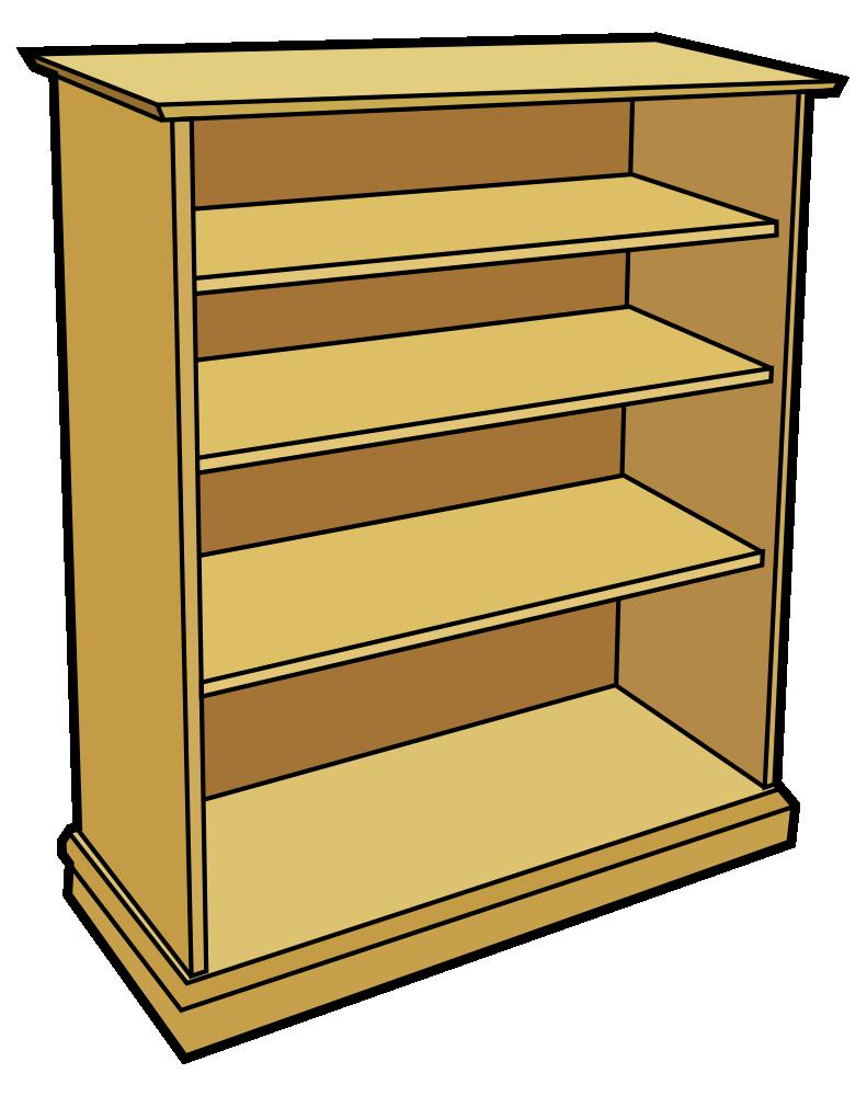 Furniture clipart wooden furniture. Onlinelabels clip art bookcase