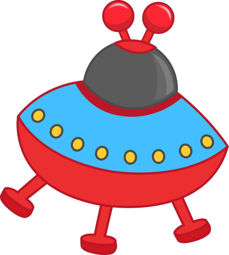 Minus say hello space. Ufo clipart friendly