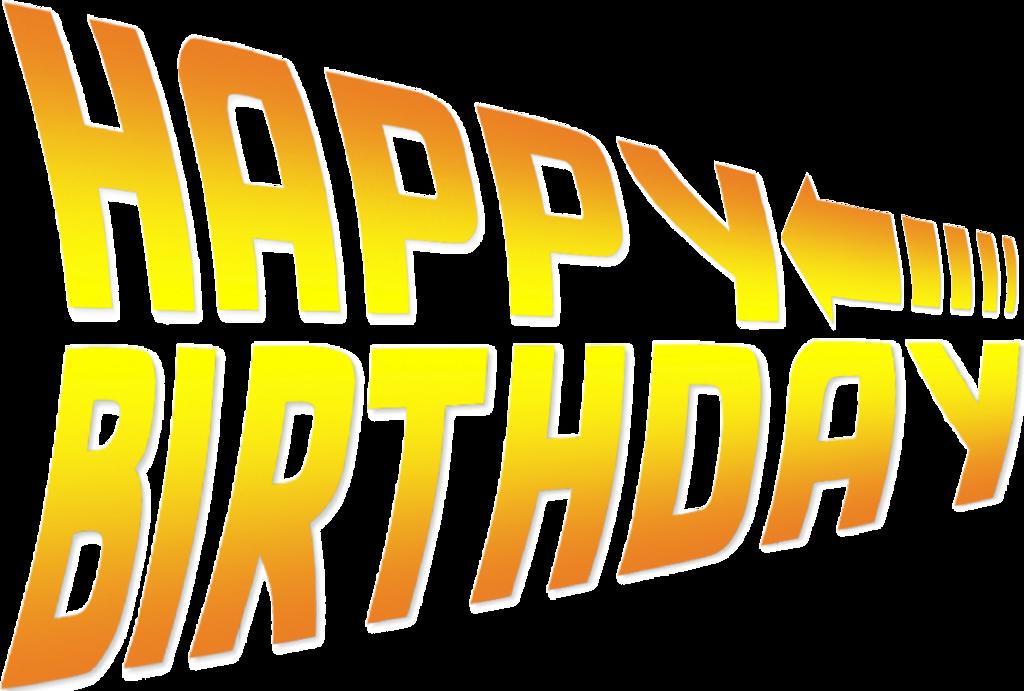 Future clipart back to future. Happy birthday the font