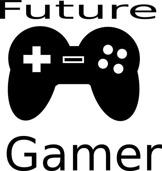 Future clipart black and white. Gamer clip art at