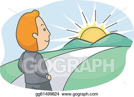 Future clipart bright future. Eps vector stock illustration
