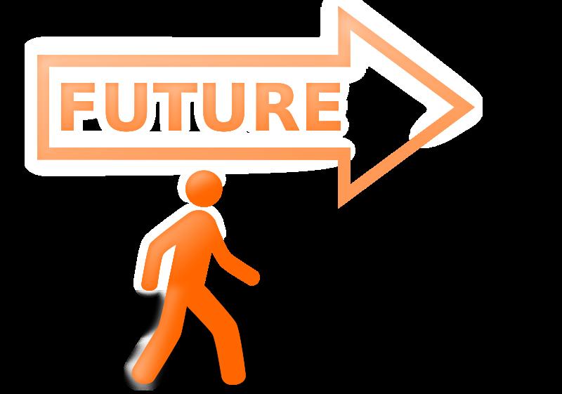 Future clipart brighter future. Walking to the bright