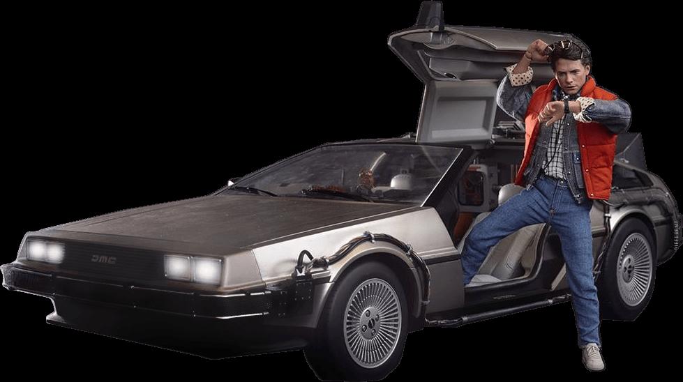 Marty back to the. Future clipart car delorean