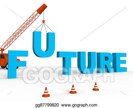 Future clipart clip art. Stock illustration build represents