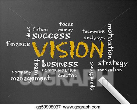 Stock illustration chalkboard . Future clipart company vision