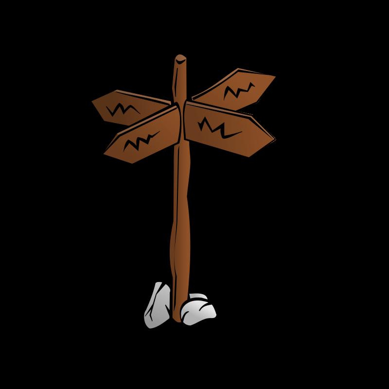 Rpg map symbols sign. Future clipart crossroads
