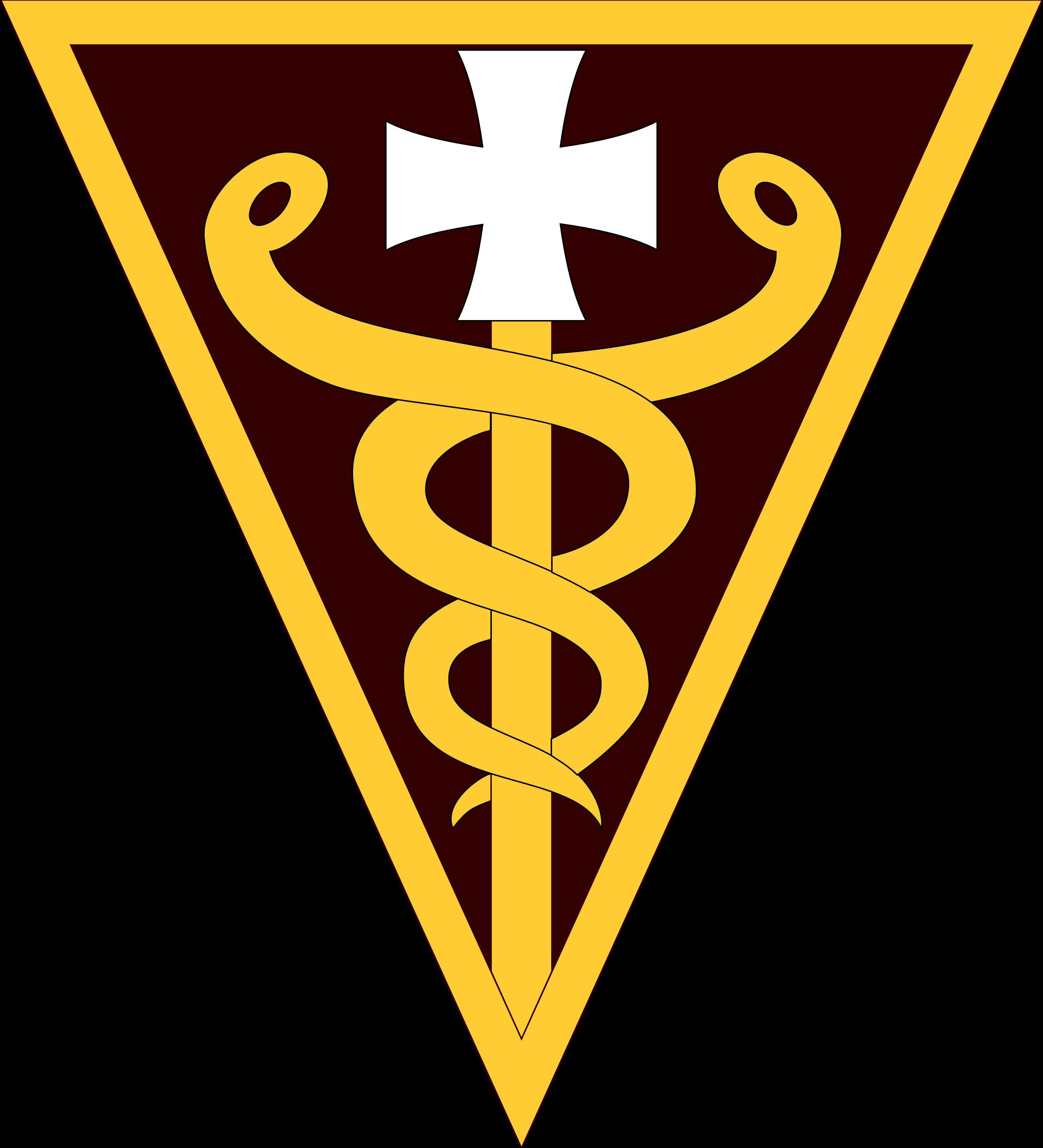 Rd command shoulder sleeve. Medical clipart emblem