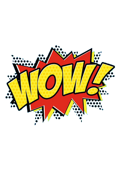 Report clipart word. Wow expression effect comic
