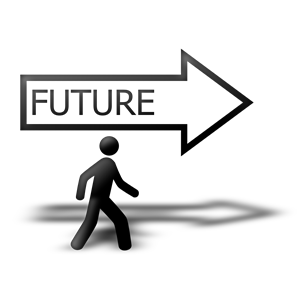 Walking to the cliparts. Future clipart future ahead