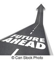 Road words arrow panda. Future clipart future ahead