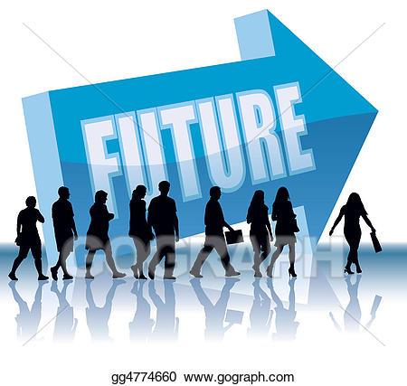 Stock illustration . Future clipart future direction