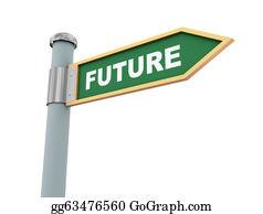 Future clipart future direction. Stock illustration past sign