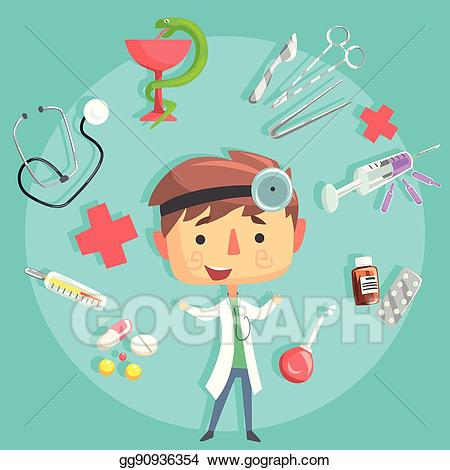 Eps illustration boy doctor. Future clipart future dream