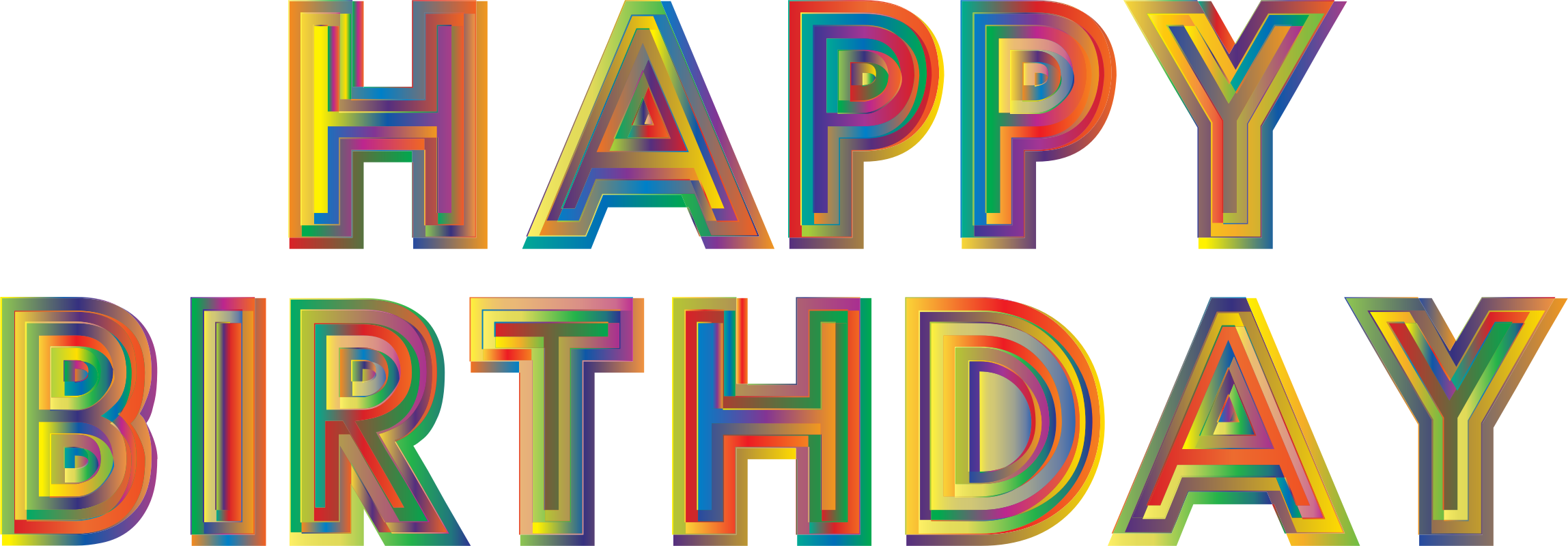 Happy birthday typography by. Future clipart future enhancement