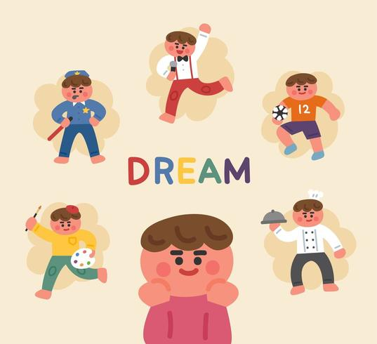 Boy dreaming about career. Future clipart future job