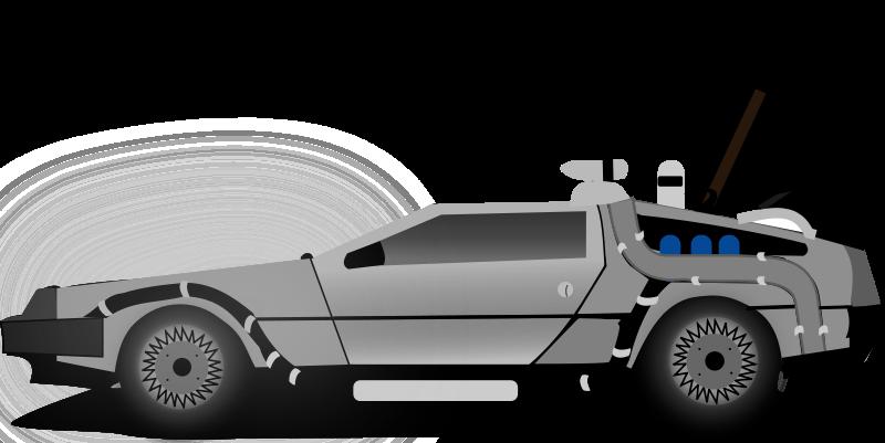 Future clipart future plan. Car delorean back to