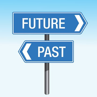 Past crossroads arrows premium. Future clipart future sign