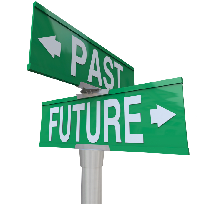 Future clipart future sign. Past and two way