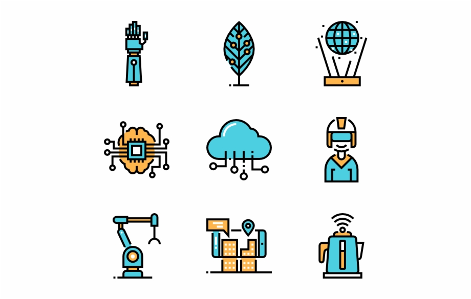Technology clipart future technology. Icons that represent the