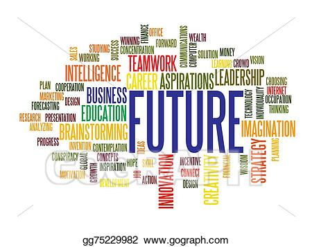 Drawing business cloud . Future clipart future word