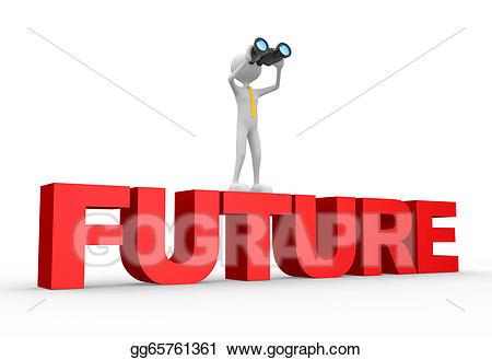Drawing binocular and . Future clipart future word
