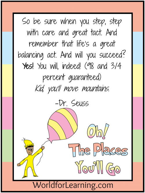 Future clipart graduation quote. Oh the places you