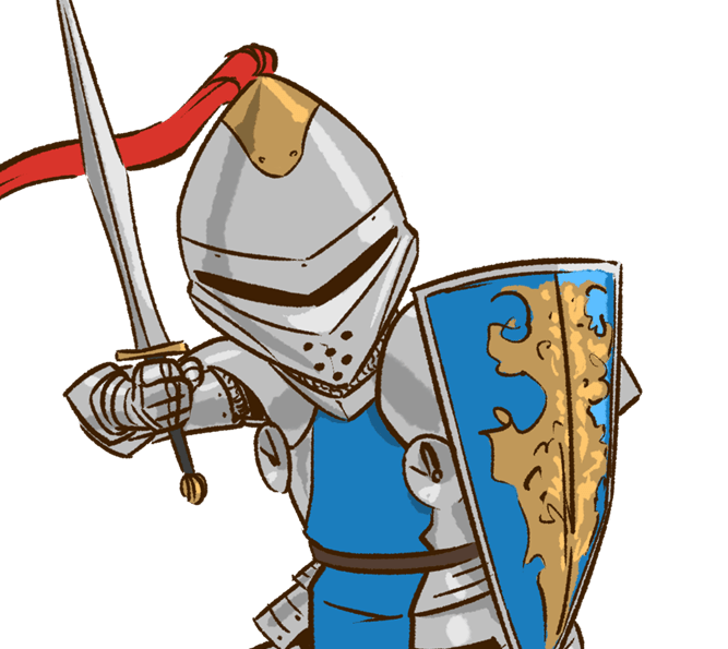 The knight and damsel. Future clipart hindrance