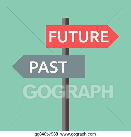 Vector stock past and. Future clipart journey life