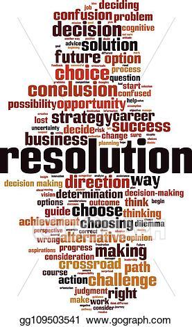 Vector art resolution word. Future clipart option