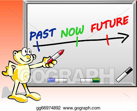 Vector past concept on. Future clipart present time