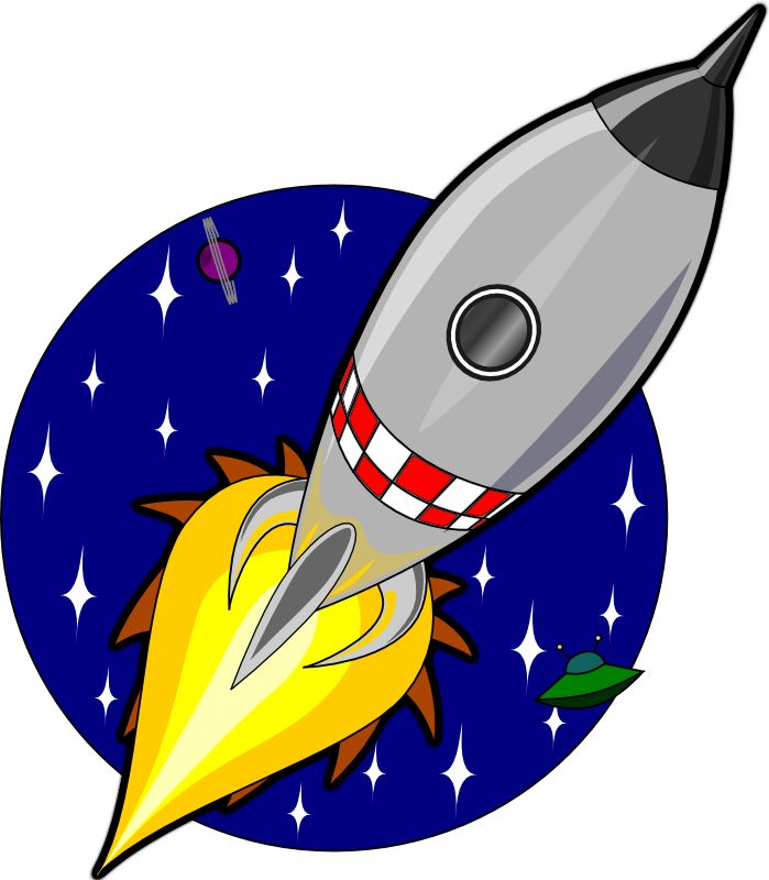 Ship black and white. Future clipart rocket science