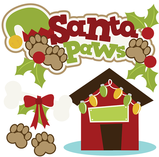 Poetry clipart veneer. Santa paws svg christmas