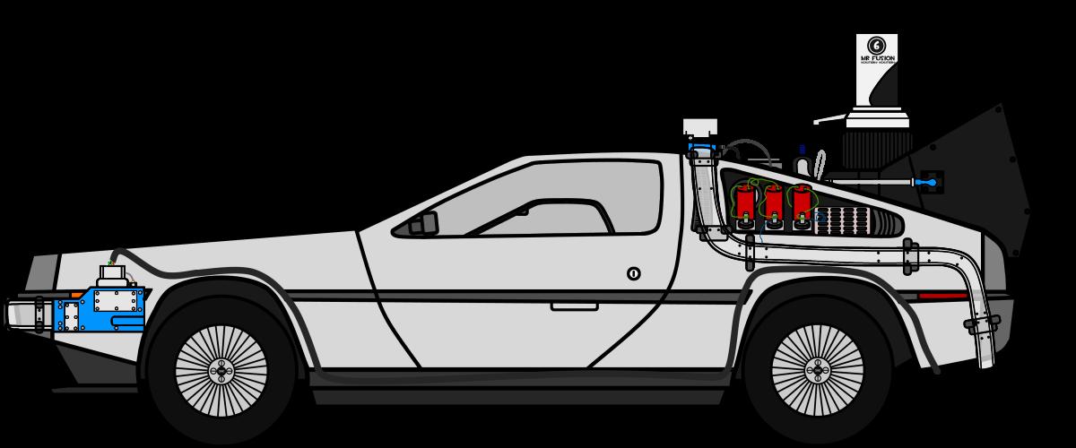 Delorean . Future clipart time machine