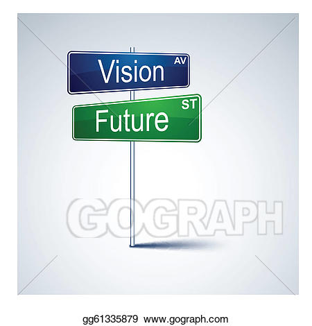 Vision clipart future direction. Vector road sign