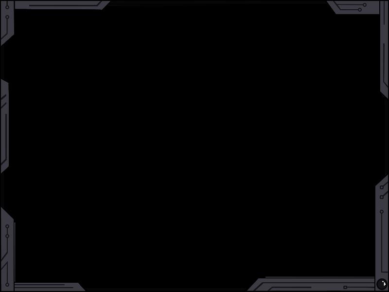 Futuristic border png. Simple design ver black
