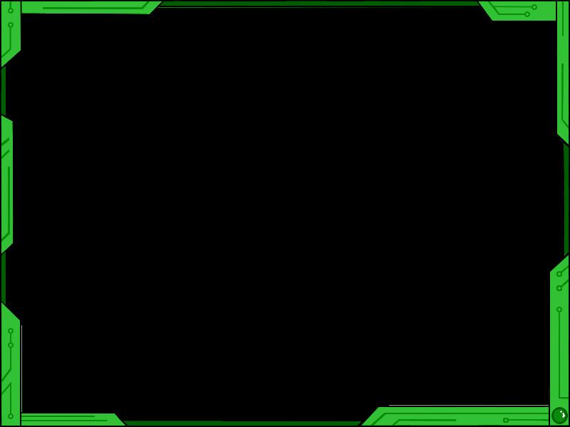 Simple design ver green. Futuristic border png