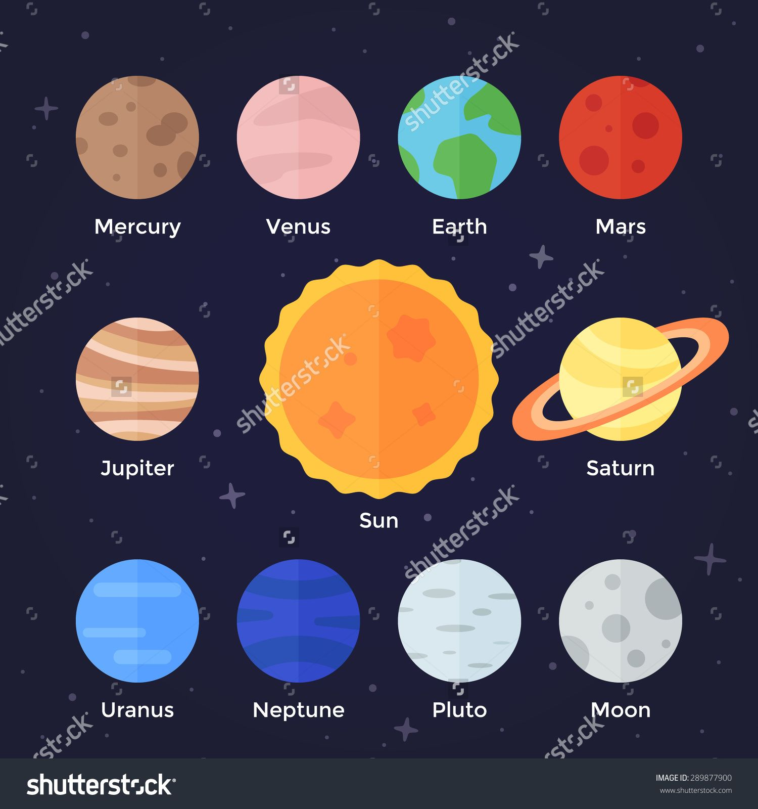 Colors for solar system. Galaxy clipart 8 planet